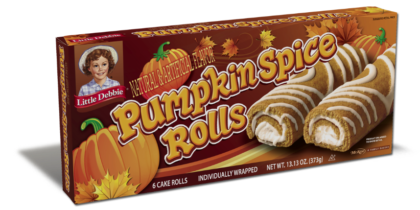 Image result for pumpkin spice swiss rolls